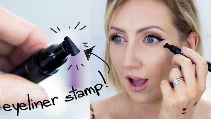 THE WINGED EYELINER STAMP | Sharon Farrell - YouTube