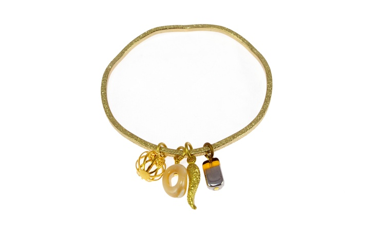 Sam Ubhi - Ripple Charm Bangle with 4 Charms