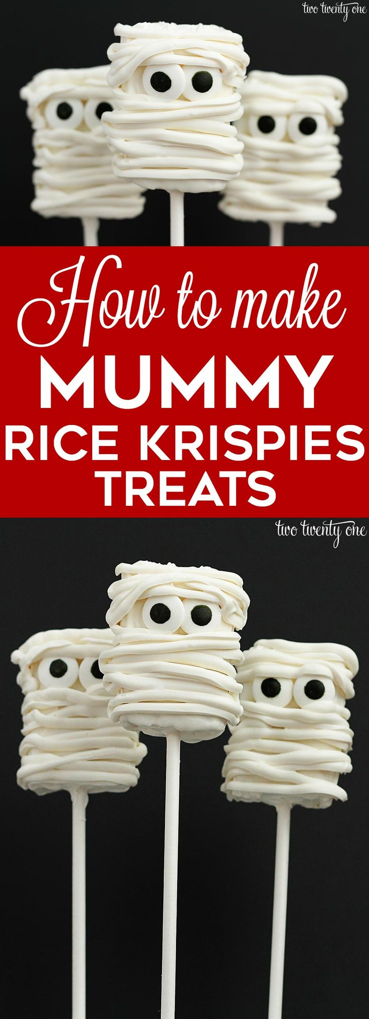 Prepare yourself for the cutest, yet still quite spooky, mummy Rice Krispies treats. Adorable, right? And I even made a quick video of myself making them. Remember, I'm attempting to land a hand modeling contract AND win an Oscar by the year's end. After I finished editing the video, I showed it to Brad. While watching …