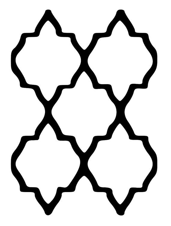 Simple moroccan pattern stencil for Moroccan shapes templates
