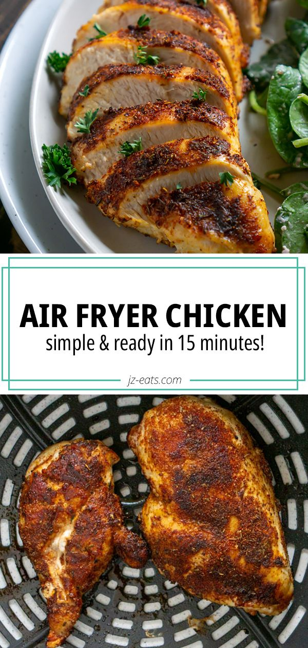 Jul 10, 2020 – A foolproof Air Fryer Chicken breast recipe that works every time! Pair this juicy chicken with salad, co…