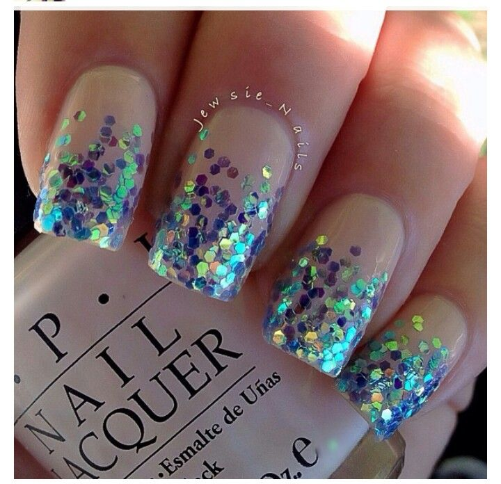 OPI Privacy please wit iridescent glitter