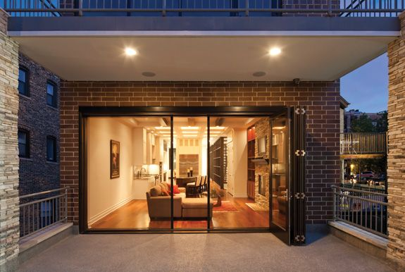 Fold and stack doors with flyscreen Insect Screens | Centor