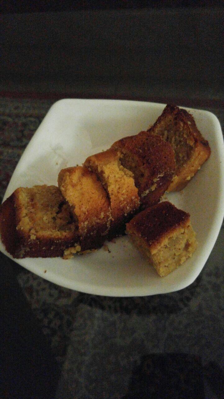 Apple Cinnamon whole wheat waffle cake :)