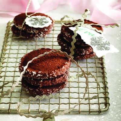 Biscuits au chocolat et au sucre cristallisé