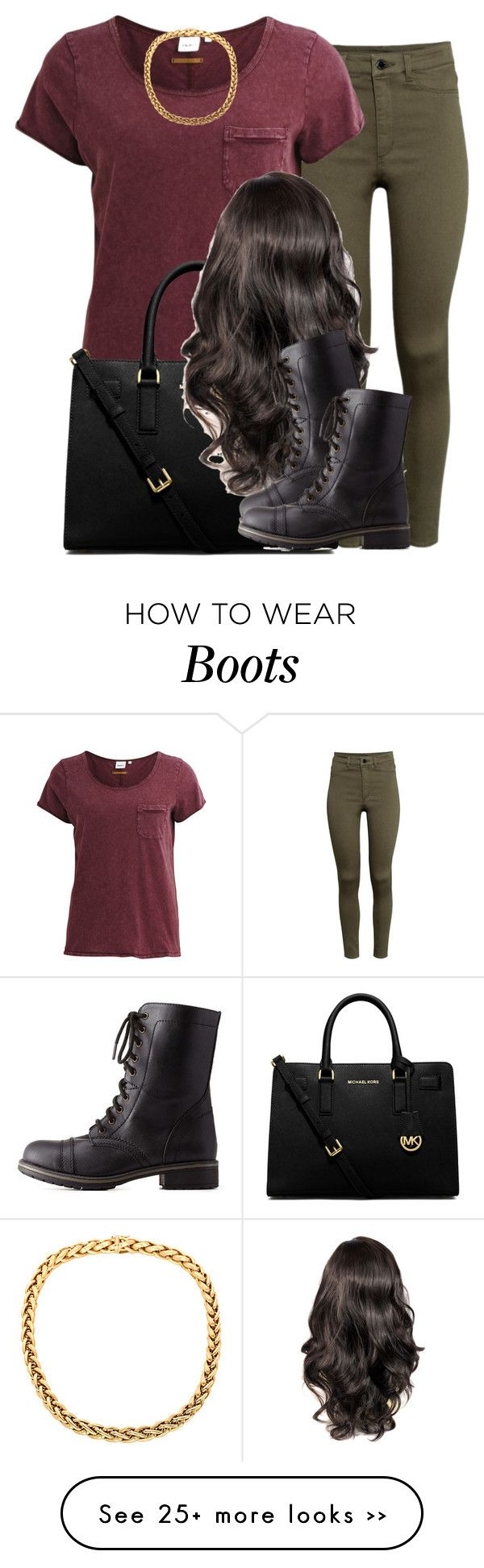 """."" by trillest-queen on Polyvore featuring H&M, Object Collectors Item, MICHAEL Michael Kors and Charlotte Russe"
