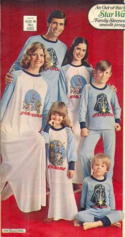Star Wars pajamas.  Because it was important for the family to match while they slept.