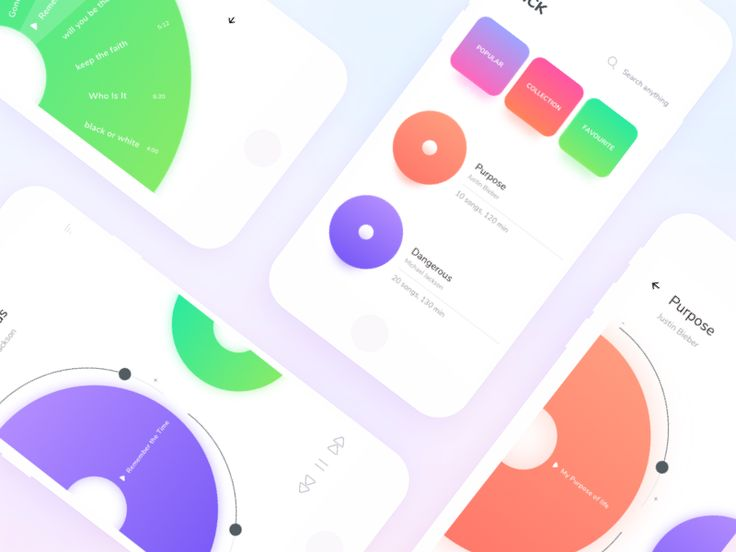 Colorful Music player   by Johny vino™ - Dribbble