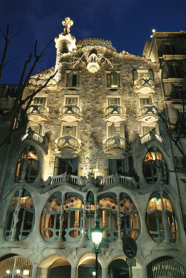 * Exterior view of an Antoni Gaudi building in Barcelona - Really Cool Pic!