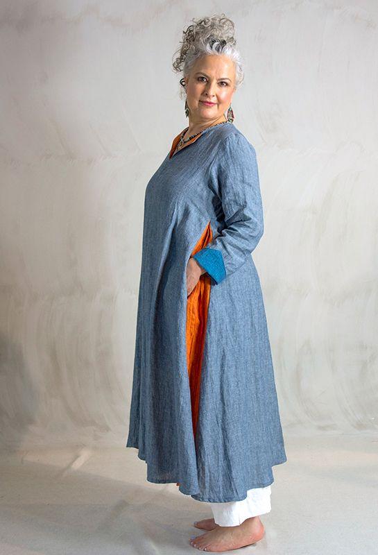 Flare dress £325, linen.