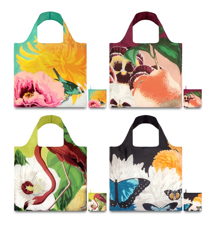 LoQi Botany Collection. These amazing foldable shopping totes are available for only $13.90 at The Planet Traveller