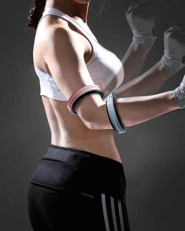 Easily transportable electromagnetic dumbbells that can adjust weight automatically.