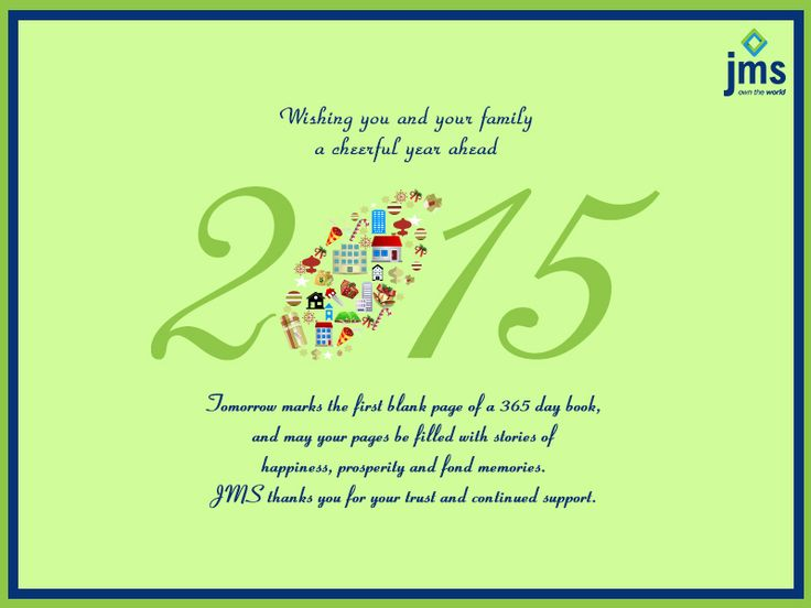 We wish the New Year brings joy, happiness, peace and smile for you and your family. Happy New Year.