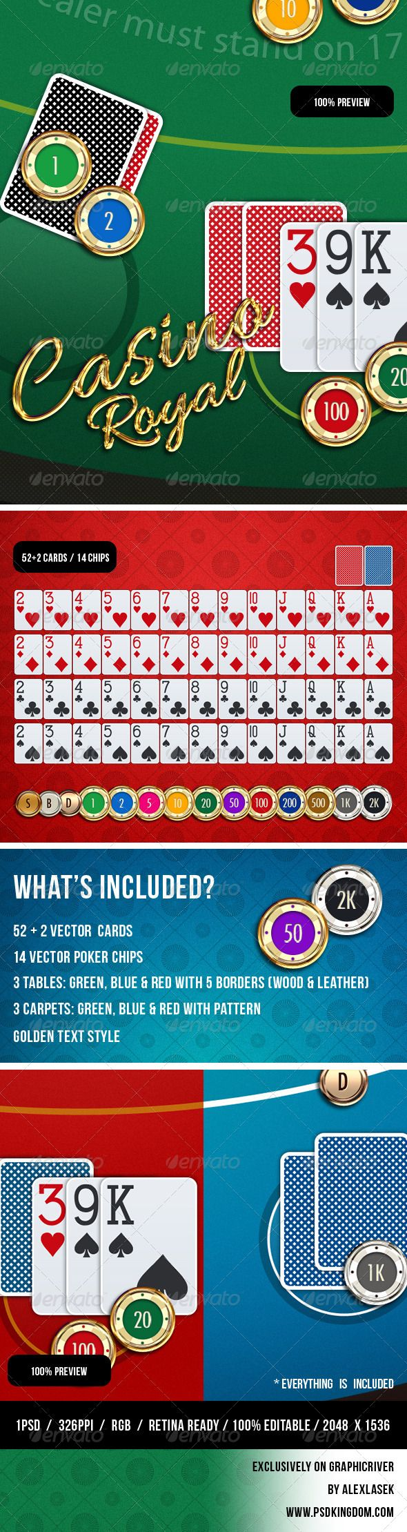 Casino Card Game GUI  - Game Kits Game Assets