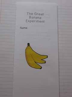 Interactive Science Notebooks 1 - The Great Banana Experiment...what a fun way to start the year!