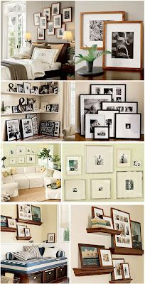 Stairway photo walls - collage
