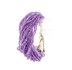 Plum Bead Layered  Bracelet