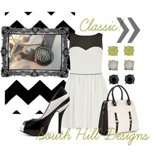 Add a South Hill Designs Locket to make the perfect outfit for any occasion!  www.SouthHillDesigns.com/sarahsmith #southhilldesigns #locket #classic #midnight