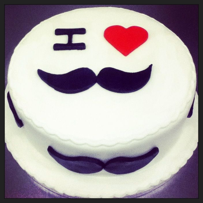 Celebrate the end of Movember with this cool moustachioed Movember cake!#movember#moustache #sugarcraft