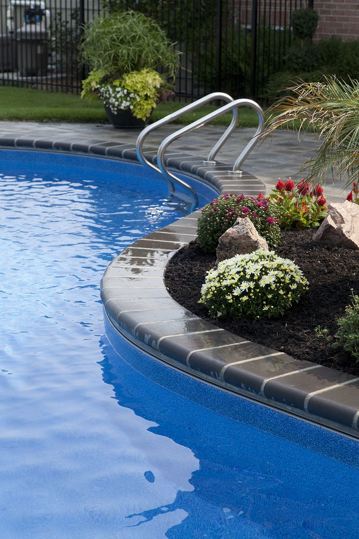 Dark Blue Pool Water blue granite liner water colour - dark blue latham | vinyl liner