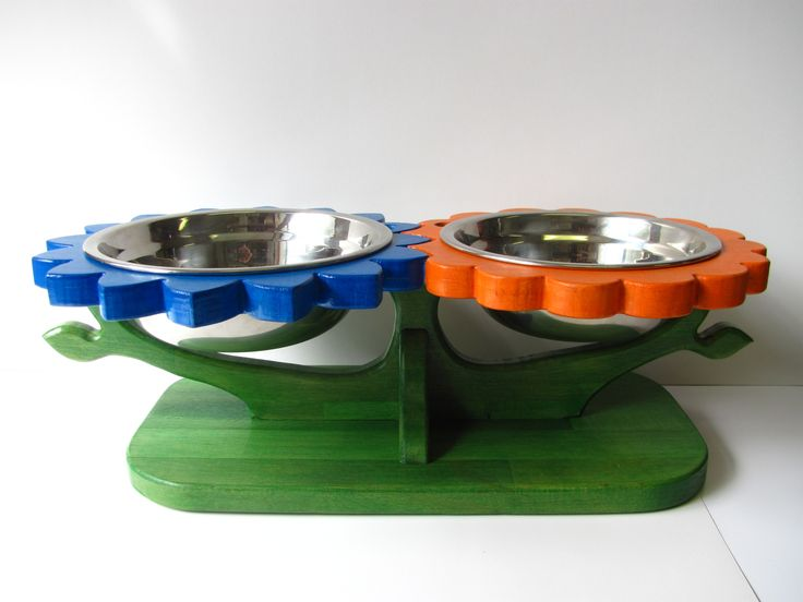 red u0026 yellow sunflowers size l and x l dog bowl holder dog bowl stand dog bowl feeder dog bowl set raised dog feeder elevated