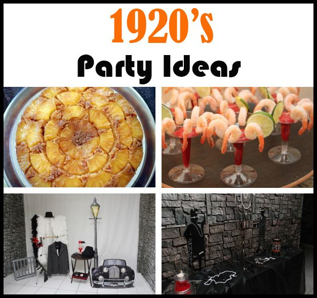 1920's Party.  Let the Roaring 20's lead your party in elegance and extravagance.  Great ideas for a night of glitz and glam!  Creative theme for a Halloween party.
