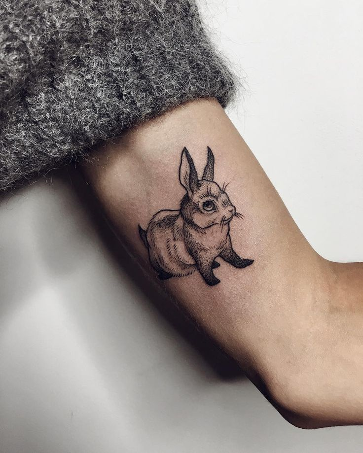 74 best rabbit tattoo ideas images on pinterest rabbit for Small bunny tattoo