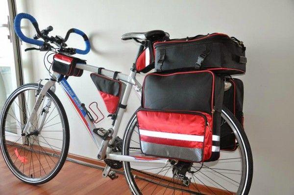 Bicikli váztáska dupla
