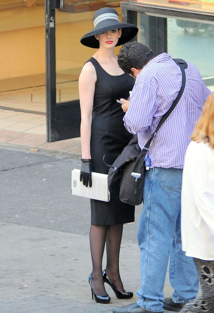 Anne Hathaway filming The Dark Knight Rises