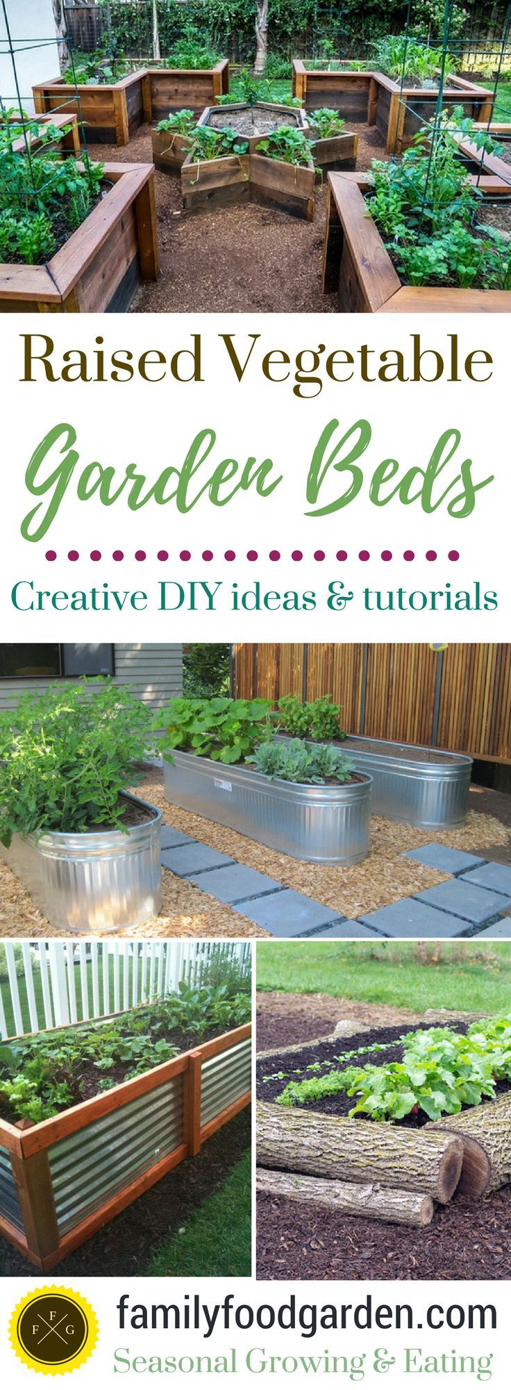 Raised garden beds add a lot of beauty to a garden. They're also excellent for drainage, warming up the soil faster in the springtime and a little higher for easier harvesting.They can make your garden look amazing! There are a many designs &materials you can usecreate a raised vegetable ga