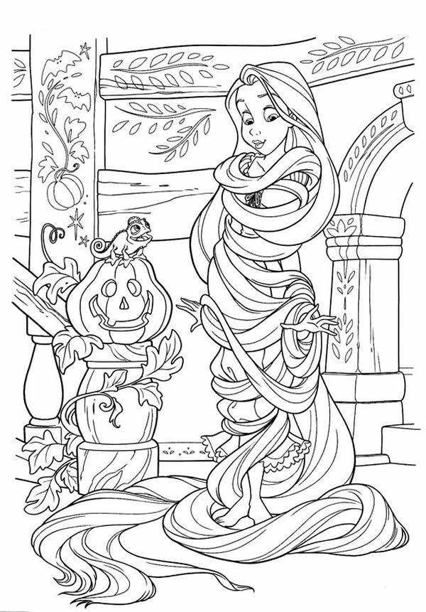 Coloriages de Raiponce à imprimer | Coloriage halloween ...