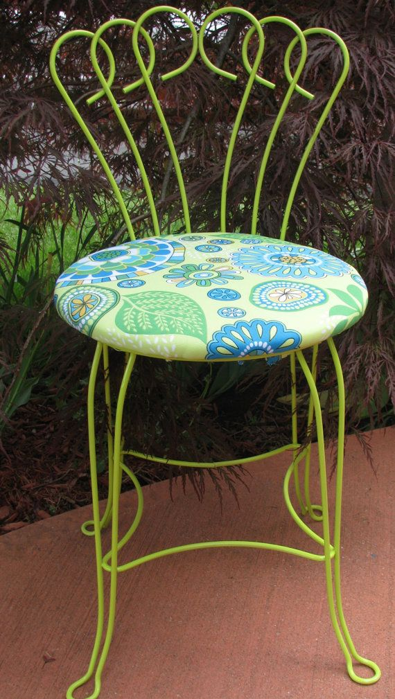The Lila metal garden chair with by VictorianRehabDesign on Etsy, $79.00