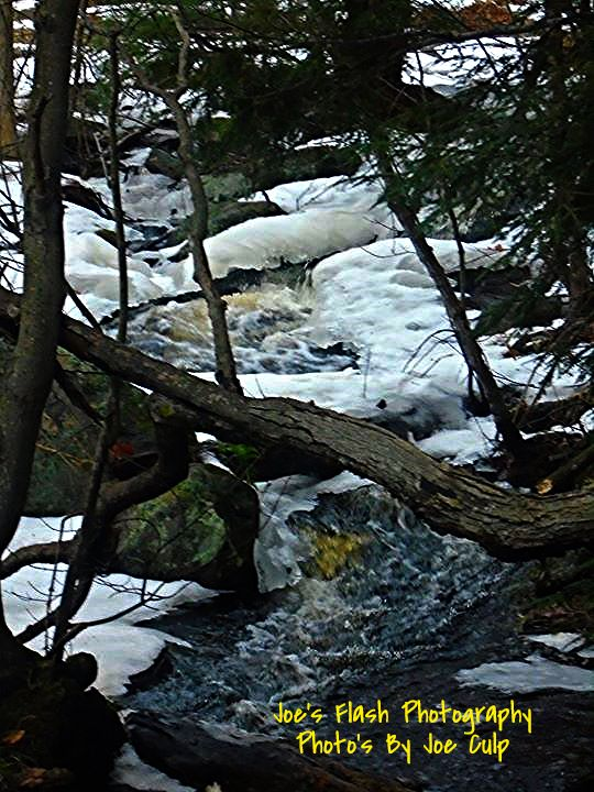 Fast Flowing Water off the Seguin Trail in orrville Ontario