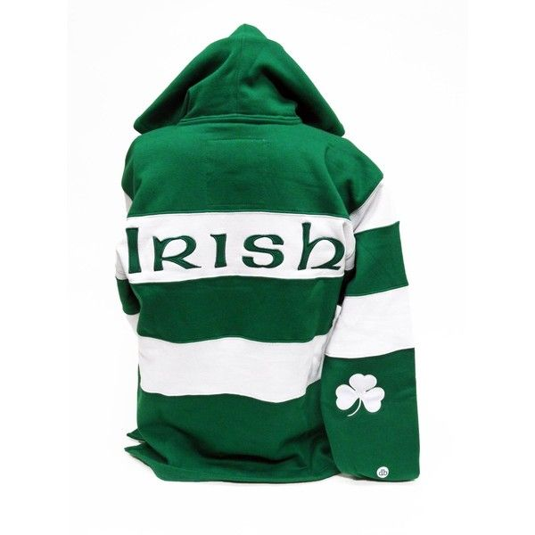 Ireland Rugby Shirt Hoodie ❤ liked on Polyvore featuring tops, hoodies, shirts & tops, green top, sport shirts, sweatshirts hoodies and hooded sweatshirt