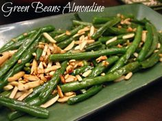 Change up your normal Green Bean Casserole with Green Beans Almondine. Also known as haricots vert amandine, if you want to get all fancy! Quick and easy to make!