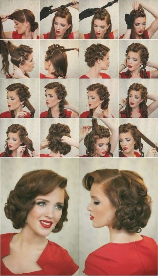 1000+ Ideas About 50S Hair Tutorials On Pinterest | The Rosie In Fantastic How To Do A 50S Hairstyle