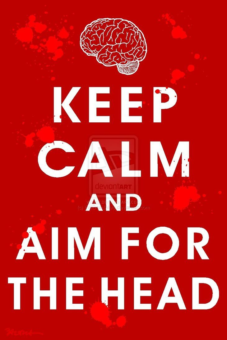 .: Aim, Art, Walking Dead, Funny, Walkingdead Zombies, Keep Calm, Calm Quotes, Zombie Apocalypse, Head
