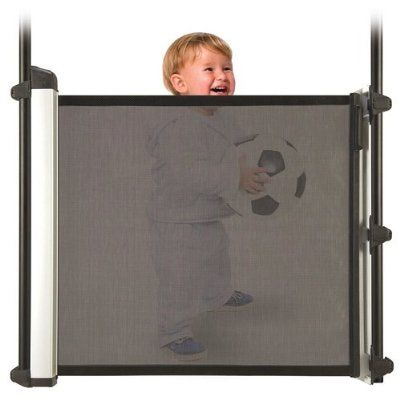lascal kiddyguard avant retractable baby safety gate black mesh by lascal