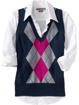 Womens Clothes: Womens Argyle Sweater Vests: Short-Sleeve Sweaters | Old Navy sn