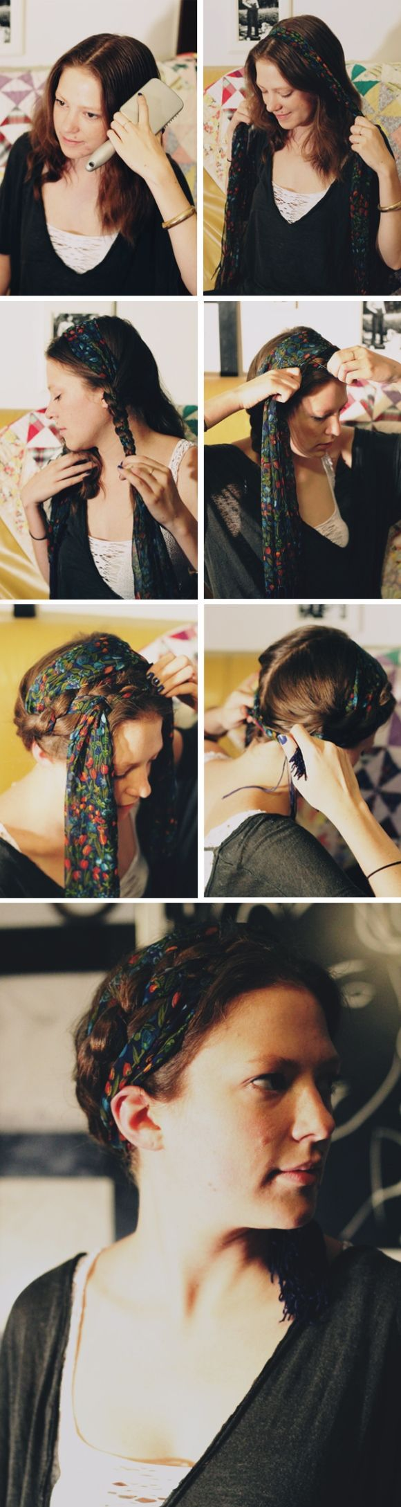 Phenomenal 1000 Ideas About Scarf Hairstyles On Pinterest Sarah Angius Hairstyles For Women Draintrainus