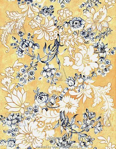 Design for woven silk, by Anna Maria Garthwaite (1690-1763). Spitalfields, London, England, c.1744.
