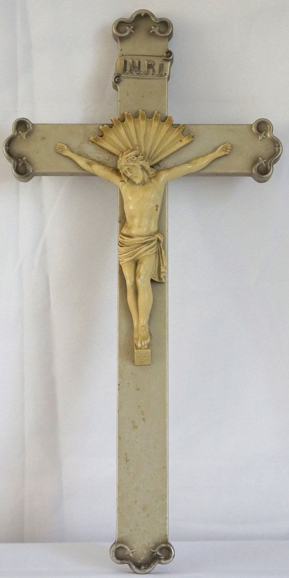 Large 23in Crucifix by J.P. Foley & Co by DCEclecticHouse on Etsy, $45.00