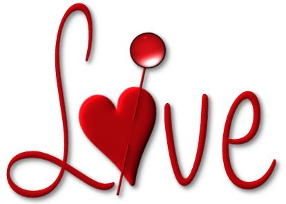 Red Love with Heart PNG Picture