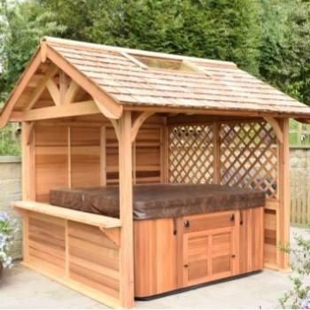 47 best images about hot tub on pinterest shelters for Hot tub shelter plans