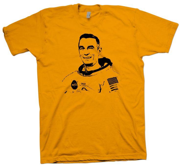 Eugene Cernan T-Shirt , Astronaut Nerd Science Geek Tee Space Astronomy - T-Shirts