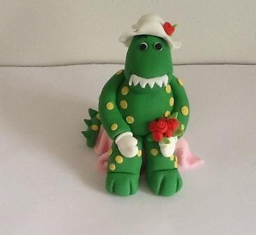 3D Edible Cake Topper,Dorothy Dinosaur Wags the Dog The Wiggles Birthday Topper