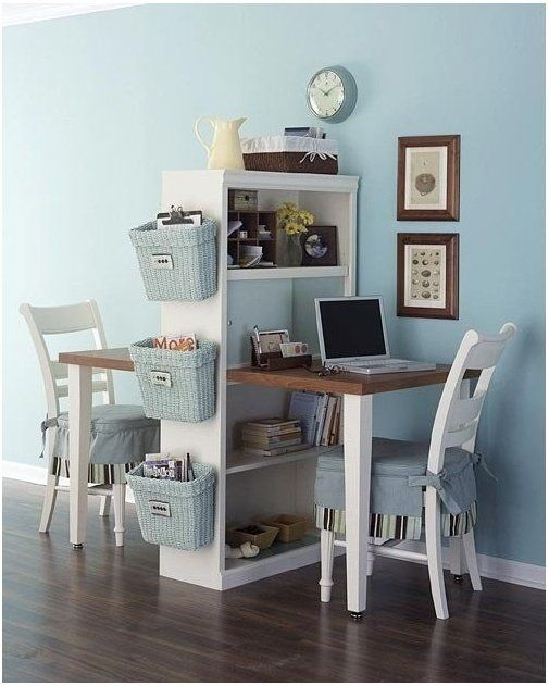 Clever home office idea for a very small space! by josefa  | followpics.co