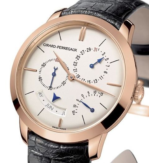 Girard-Perregaux 1966 Annual Calendar and Equation of Time watch (dial)