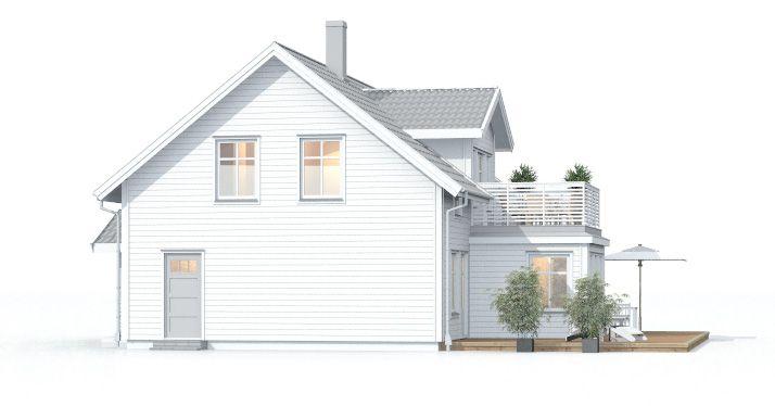 Villa Grebbestad, charmig villa i klassisk bohuslänsk stil med vackra fönster, veranda, balkong och takkupor. Se fler fakta, bilder och ritningar här!