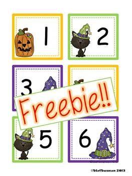 {FREEBIE!!!}  October Calendar Cards {ABC Pattern}   dreambigkinders.blogspot.com